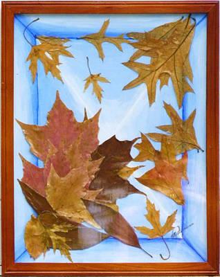 Splattered Leaves Poster
