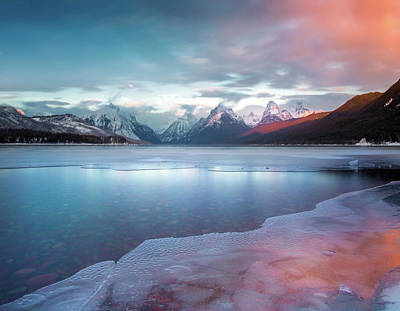 Poster featuring the photograph Spring Thaw / Lake Mcdonald, Glacier National Park  by Nicholas Parker