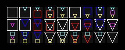 Squa-ngle Alphabet Colour Poster