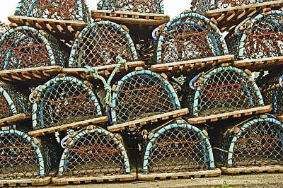 St. Andrews. Lobster Pots. Poster