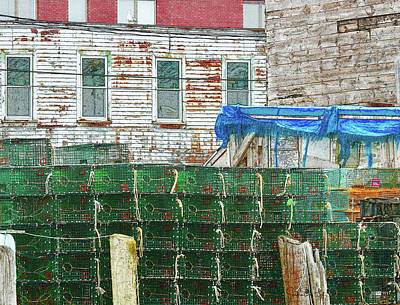 Stacked Lobster Traps Poster