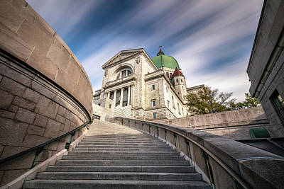 Poster featuring the photograph Stairway To St Joseph Oratory by Pierre Leclerc Photography