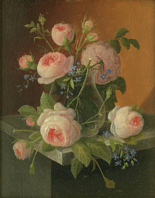 Still Life With Roses, Circa 1860 Poster