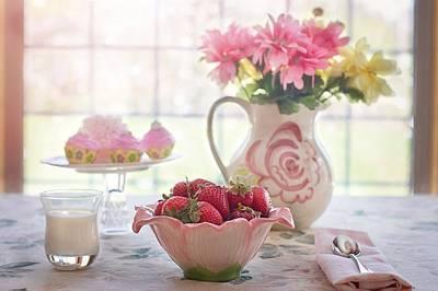 Strawberry Breakfast Poster