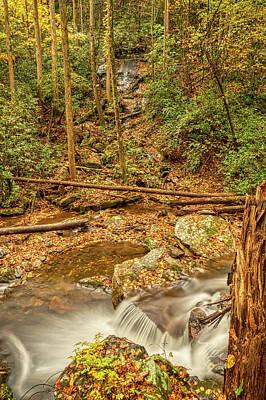 Poster featuring the photograph Stream Waterfalls by Meta Gatschenberger