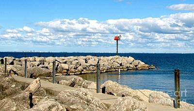 Poster featuring the photograph Sturgeon Point Marina On Lake Erie by Rose Santuci-Sofranko
