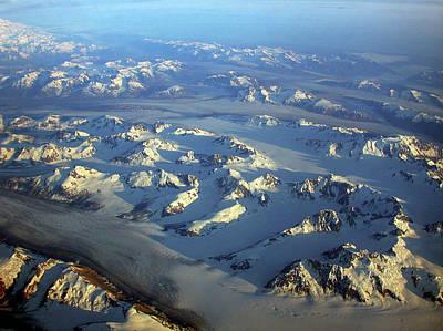 Sun Kissed Glaciers Poster