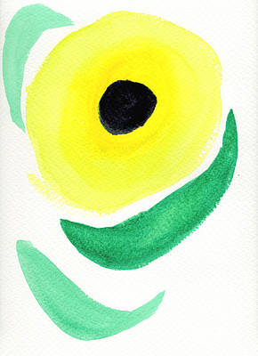 Poster featuring the painting Sunflower by Bee-Bee Deigner