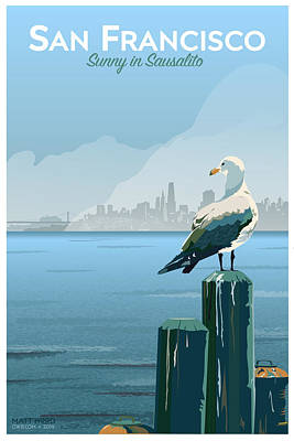 Sunny In Sausalito Poster