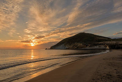 Sunrise On The Beach Of The Genoveses Of Cabo De Gata Poster