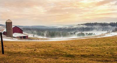 Sunrise On The Farm Poster