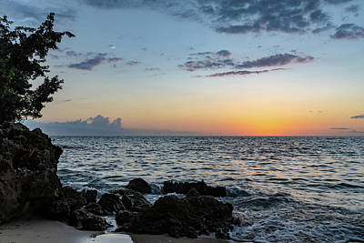 Sunset Afterglow In Negril Jamaica Poster