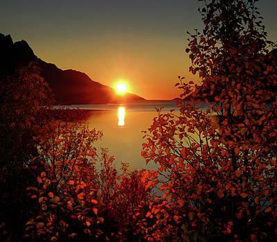 Sunset In Ersfjordbotn Poster