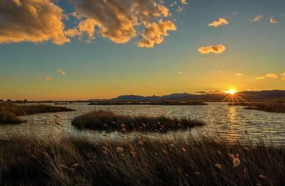 Sunset In The Natural Park Of Prat De Cabanes Poster