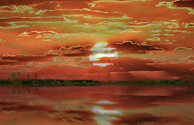 Poster featuring the photograph Sunset Lake by Bill Swartwout Fine Art Photography