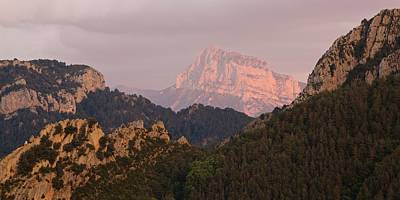 Poster featuring the photograph Sunset On Pena Montanesa by Stephen Taylor
