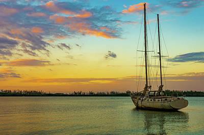Sunset On The Lagoon Poster