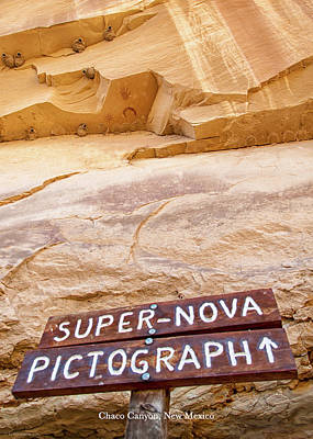 Poster featuring the photograph Supernova Pictograph by Britt Runyon