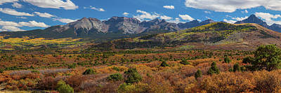 Poster featuring the photograph Sw Autumn Colorado Rocky Mountains Panoramic View Pt1 by James BO Insogna