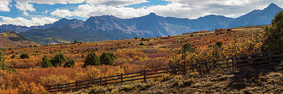 Poster featuring the photograph Sw Autumn Colorado Rocky Mountains Panoramic View Pt2 by James BO Insogna