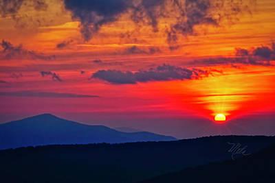 Poster featuring the photograph Blue Ridge Mountain Sunset by Meta Gatschenberger