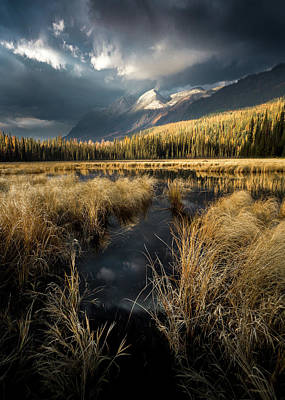 Poster featuring the photograph Tapering Rains / Whitefish, Montana  by Nicholas Parker