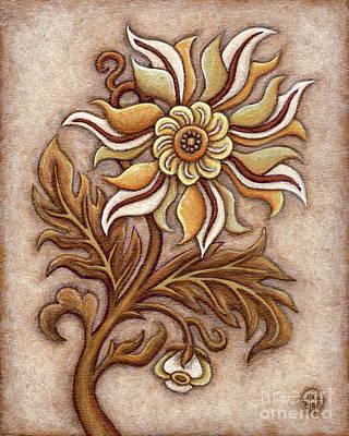 Tapestry Flower 1 Poster