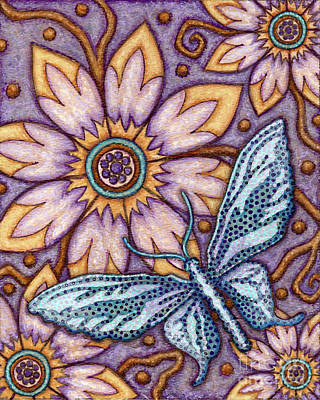 Tapestry Butterfly Poster