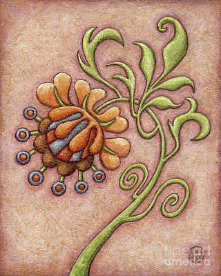 Tapestry Flower 10 Poster