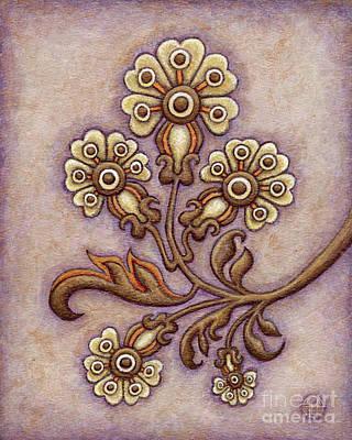 Tapestry Flower 4 Poster