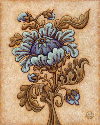 Tapestry Flower 5 Poster
