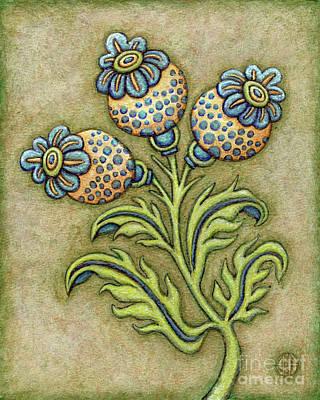 Tapestry Flower 6 Poster