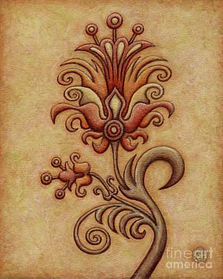Tapestry Flower 7 Poster