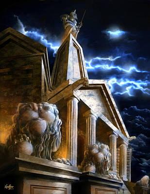 Temple Of Hercules In Kassel Poster
