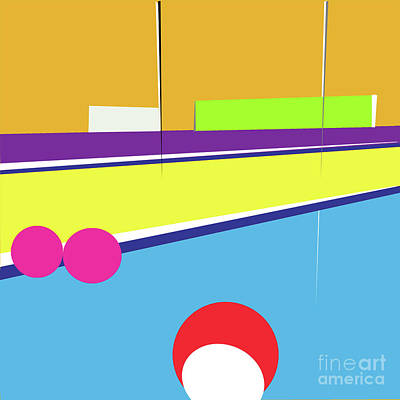 Tennis In Abstraction Poster