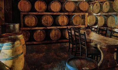 Poster featuring the photograph The Barrel Room by Thom Zehrfeld