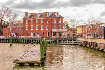 Poster featuring the photograph The Central Hotel - Delaware City by Kristia Adams
