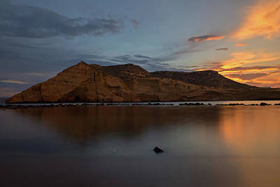 The Closed Cove In Aguilas At Sunset, Murcia Poster
