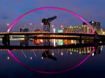 Poster featuring the photograph The Clyde Arc Reflected by Stephen Taylor