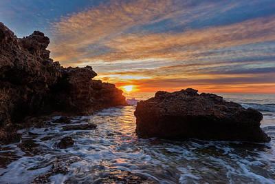 The Sea In Oropesa At Sunrise On The Orange Blossom Coast Poster