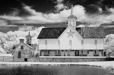 The Star Barn In Infrared Poster