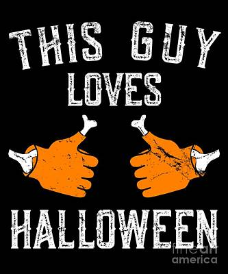This Guy Loves Halloween Poster