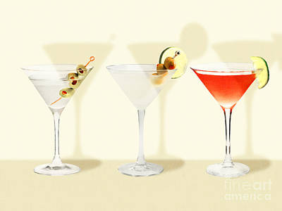Poster featuring the photograph Three Martinis Shaken Not Stirred 20180925 by Wingsdomain Art and Photography