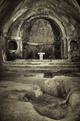 Tomb And Altar In The Monastery Of San Pedro De Rocas Poster