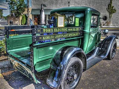 Tom's Electric Truck Poster