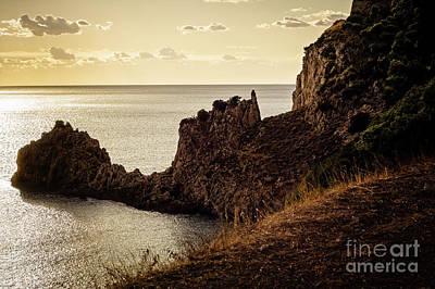 Tranquil Mediterranean Sunset    Poster