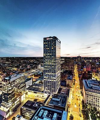 Poster featuring the photograph Us Bank Tower by Randy Scherkenbach