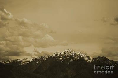 Utah Mountain In Sepia Poster