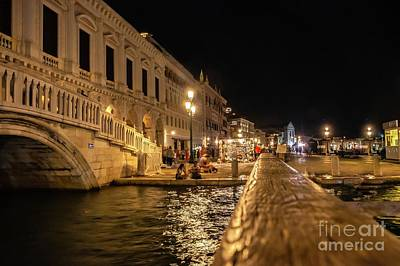 Venice At Night. San Marco Poster