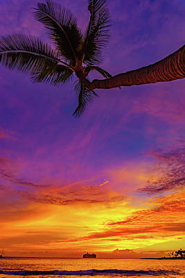 Vibrant Kona Inn Sunset Poster